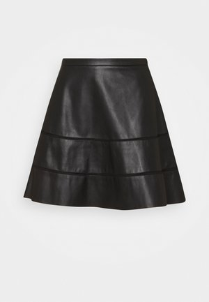 ONLKATIE SKATER SKIRT - Mini skirt - black