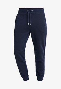 GANT - THE ORIGINAL PANT - Tracksuit bottoms - evening blue