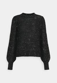 Vero Moda - VMLEILANI O-NECK - Jumper - black/silver - 0