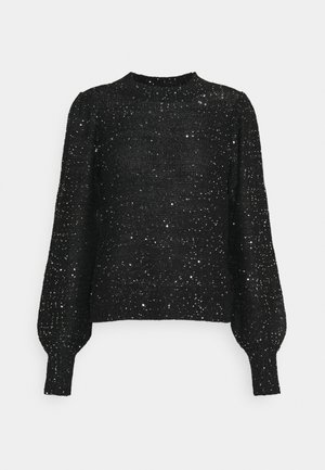 VMLEILANI O-NECK - Jumper - black/silver