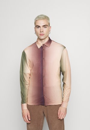 OMBRE SHIRT - Camisa - brown/green/white/light brown