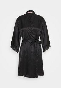 Boux Avenue - DARCIE TRIM ROBE - Dressing gown - black - 0