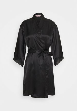 DARCIE TRIM ROBE - Dressing gown - black