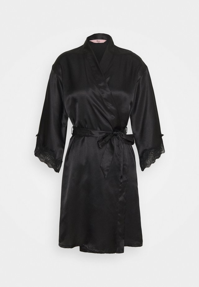 DARCIE TRIM ROBE - Badjas - black