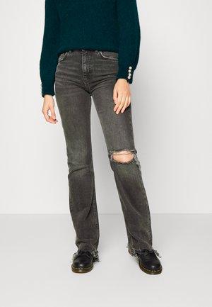 FULL LENGTH - Flared jeans - offblack