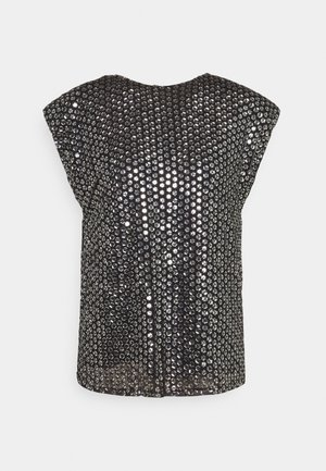 LEXI TOP - Blouse - black/silver
