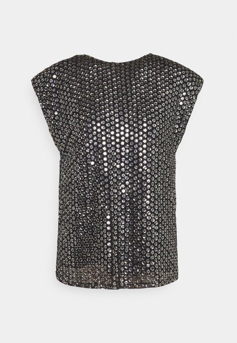 MANÉ - LEXI TOP - Camicetta - black/silver