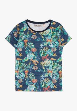 SMALL BOYS  - Print T-shirt - navy blazer