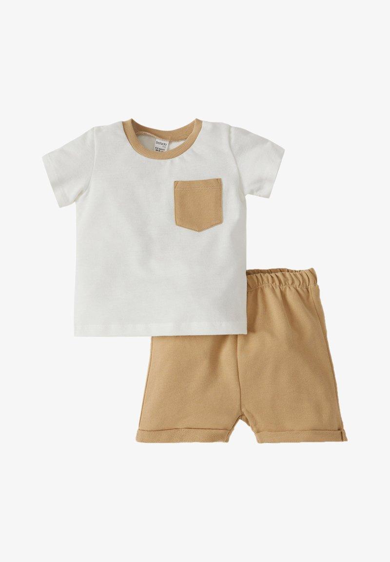 DeFacto - T-SHIRT SET - Shorts - ecru