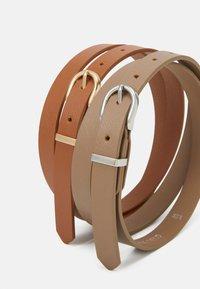 Anna Field - 2 PACK - Belt - taupe/cognac - 2