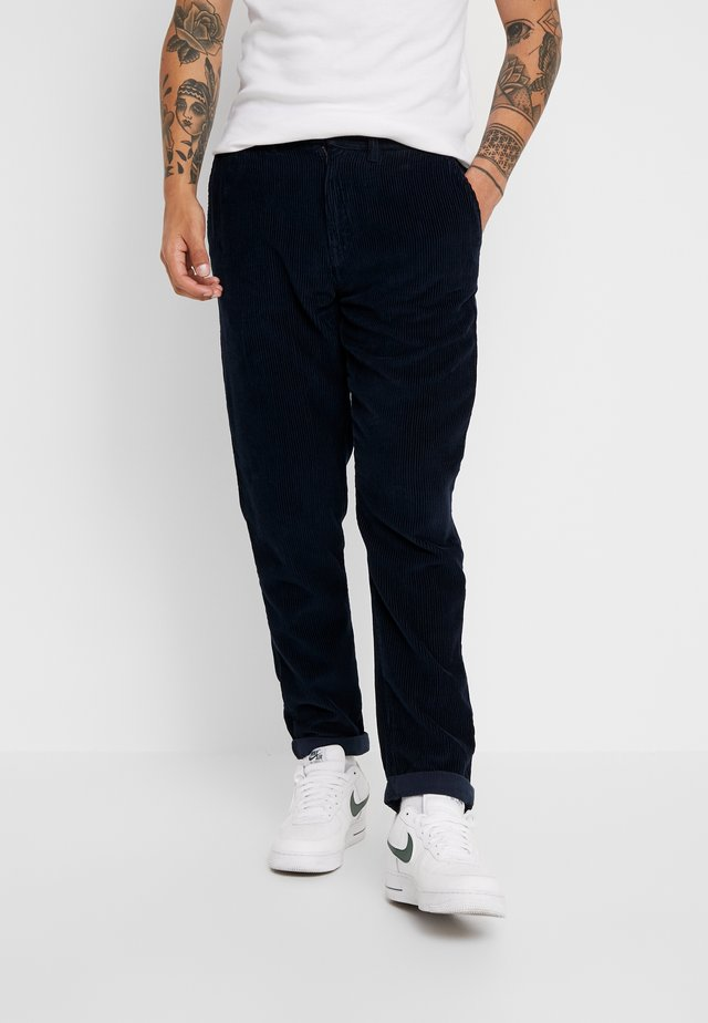 TAPERED - Trousers - navy