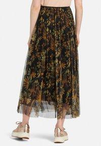 MARGITTES - Pleated skirt - schwarz/multicolor - 2