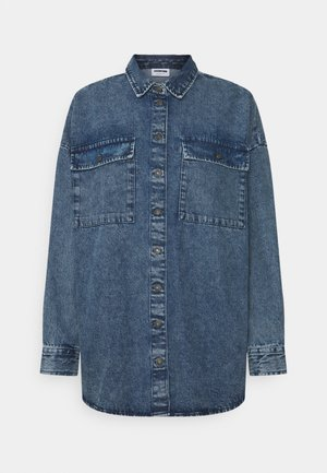 NMFLANNY LONG SHACKT  - Denim jacket - blue