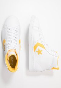 Converse - PRO LEATHER - High-top trainers - white/amarillo - 1