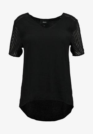 OBJZOE - T-shirts med print - black