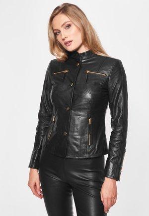 LINA - Leren jas - black