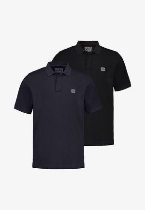 2 PACK - Poloshirt - schwarz