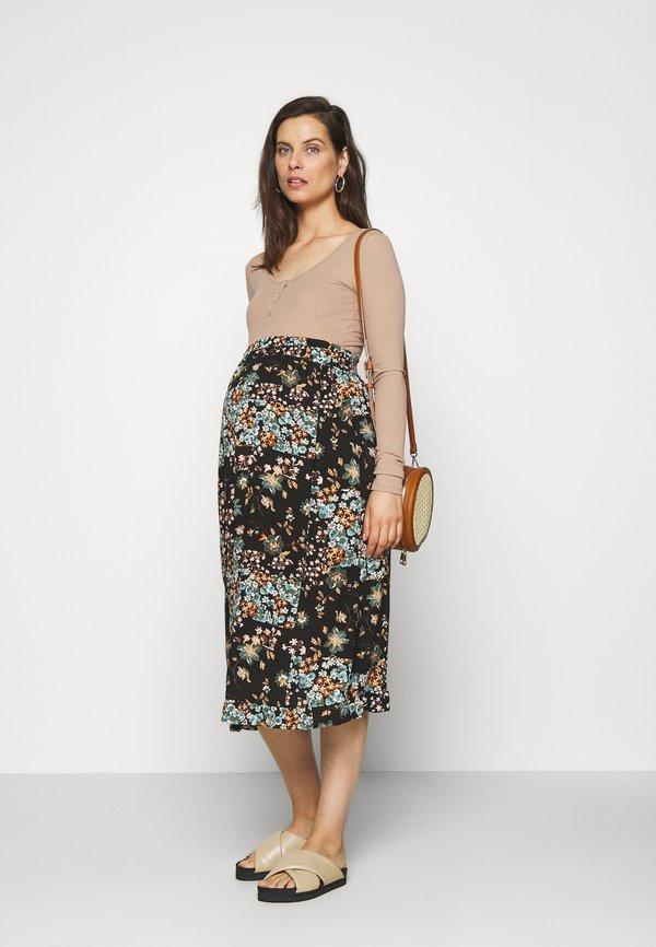 Pieces Maternity PCMKITTE - Bluzka z długim rękawem - natural Kolor jednolity Odzież Damska NINI YN 1