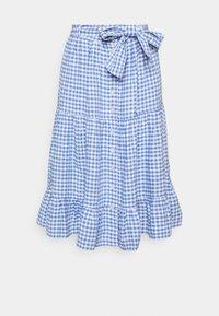 Polo Ralph Lauren - GINGHAM - A-line skirt - medium blue - 5
