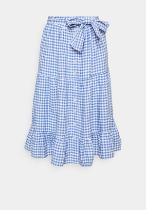 GINGHAM - A-line skirt - medium blue