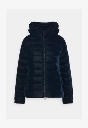 WOMAN JACKET FIX HOOD - Zimní bunda - black blue