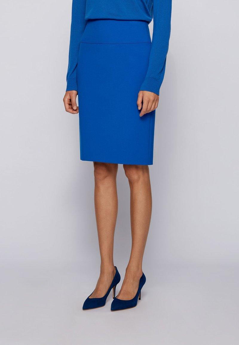 BOSS - VACRIBA - Pencil skirt - light blue