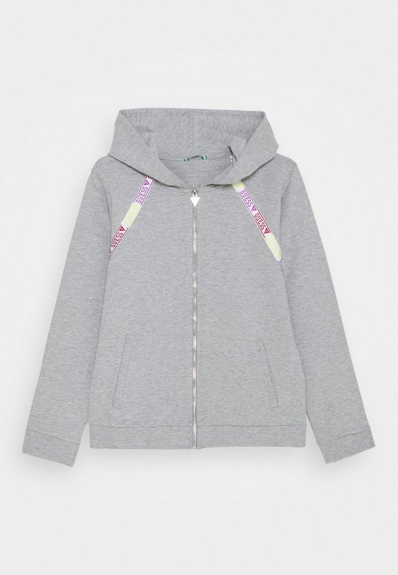Guess - JUNIOR ACTIVE ZIP - Mikina na zip - light heather grey