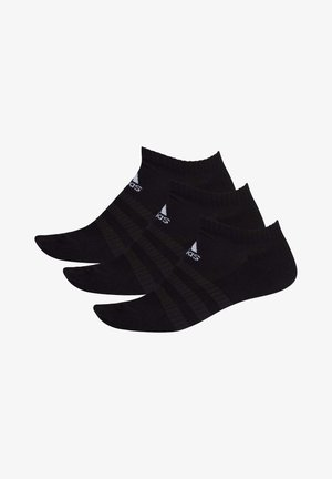 3 STRIPES CUSHIONED NO SHOW 3 PAIR PACK - Calcetines tobilleros - black