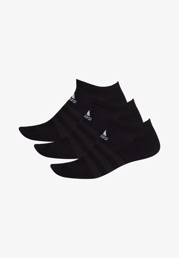 3 STRIPES CUSHIONED NO SHOW 3 PAIR PACK - Ankelsokker - black