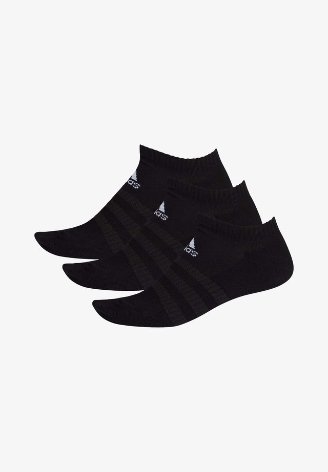 3 STRIPES CUSHIONED NO SHOW 3 PAIR PACK - Trainer socks - black
