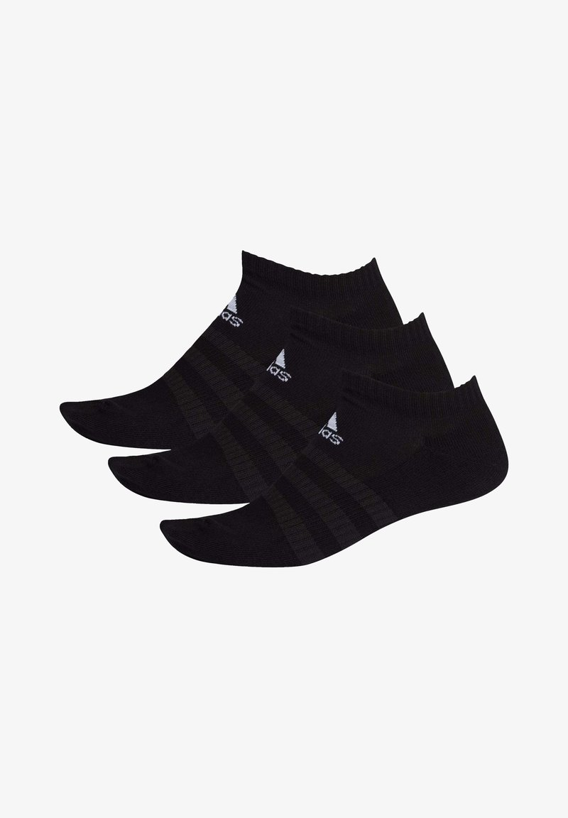 adidas Performance - 3 STRIPES CUSHIONED NO SHOW 3 PAIR PACK - Calcetines tobilleros - black