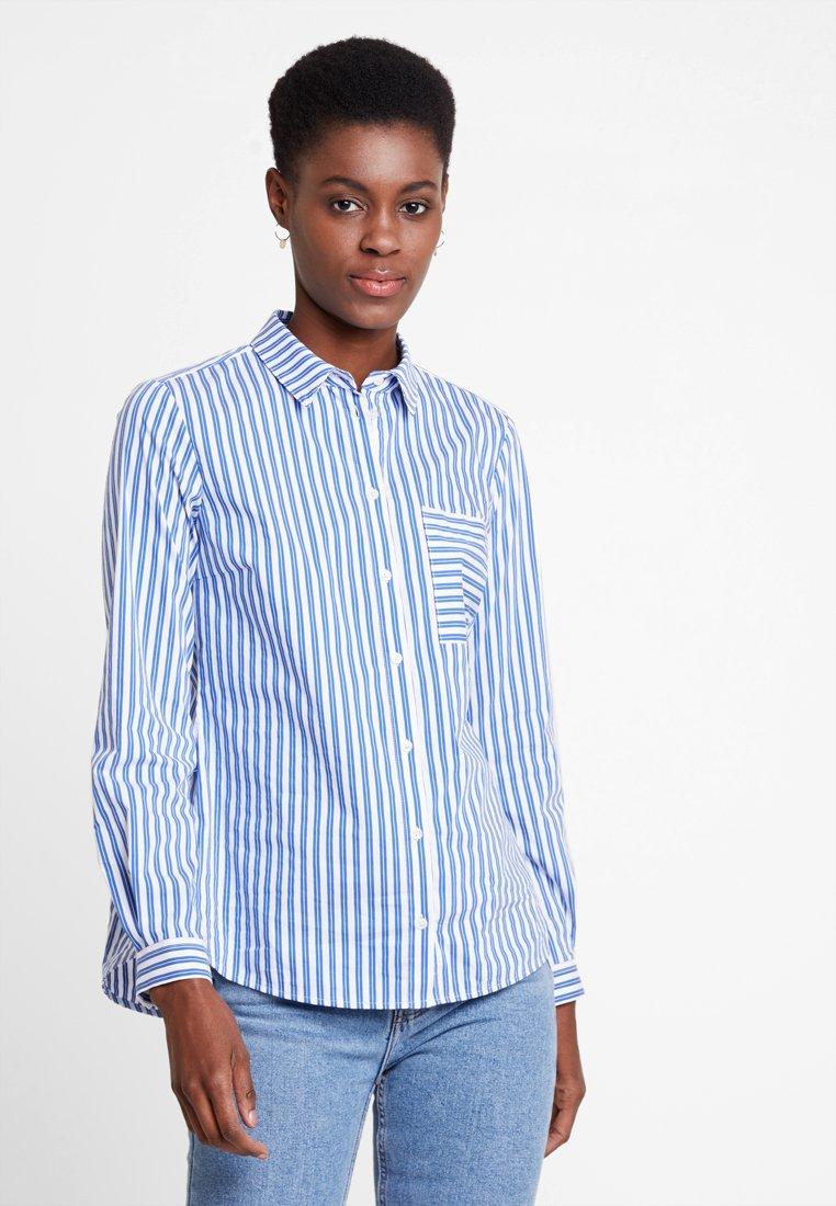 Marc O'Polo - BLOUSE KENT COLLAR LONG SLEEVED - Button-down blouse - combo