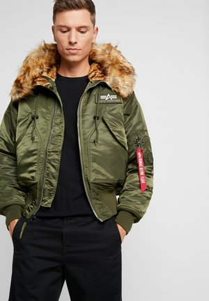 HOODED CUSTOM - Light jacket - dark green