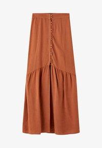 PULL&BEAR - MIT KNÖPFEN  - Maxi skirt - brown - 5