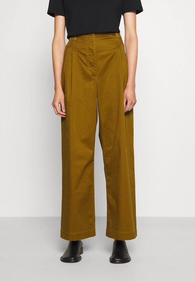 WIDE LEG PANTS - Pantaloni - olive