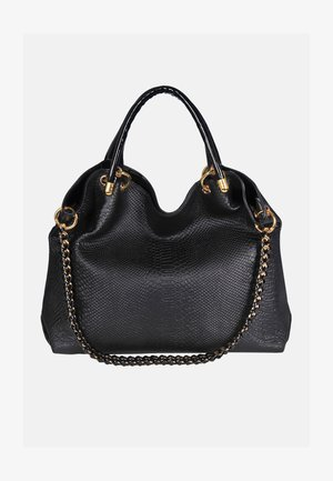 HOCHWERTIGE LEDERHAND - Handbag - schwarz