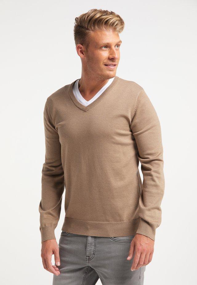 Pullover - dunkelbeige