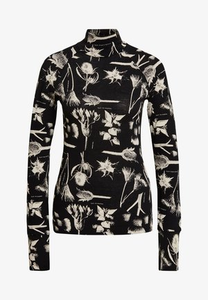 LECITE AO SLIM TURTLE LONG SLEEVE - Longsleeve - dk black botanical