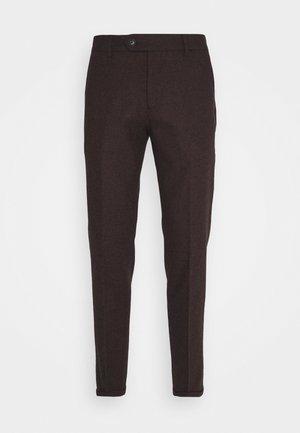 COMO SUIT PANTS - Spodnie materiałowe - burgundy