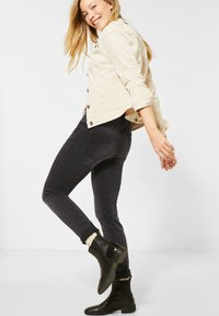 Cecil - MIT FADED KAROMUSTER - Slim fit jeans - grau - 1