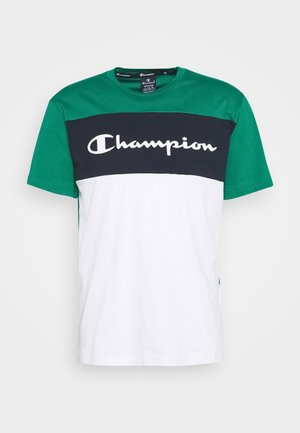 CREWNECK - Print T-shirt - green/white/navy