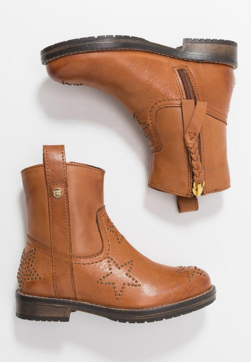 Gioseppo - Cowboy/biker ankle boot - tan