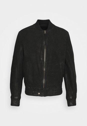 FUDO - Leather jacket - black
