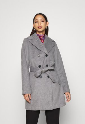 BYABIA COAT - Kort kåpe / frakk - medium grey melange