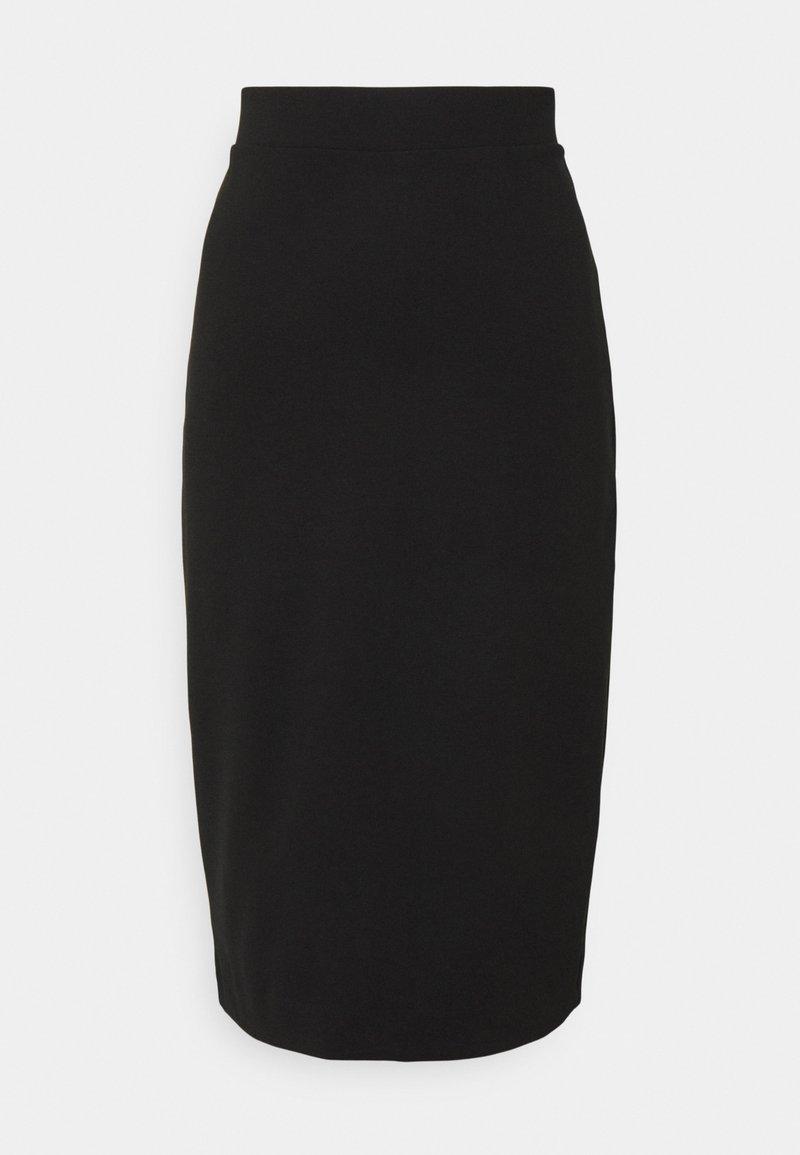 Selected Femme Tall - SLFSHELLY PENCIL SKIRT - Kynähame - black