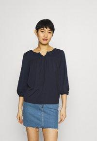 Esprit - FAB MIX TEE - Bluzka z długim rękawem - dark blue - 0