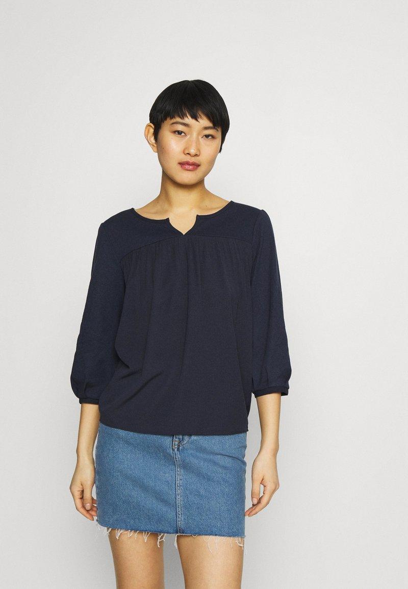 Esprit - FAB MIX TEE - Bluzka z długim rękawem - dark blue