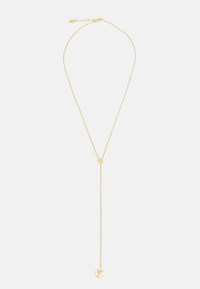 CHARM AND LOGO STARLARIAT NECKLACE - Naszyjnik - gold-coloured
