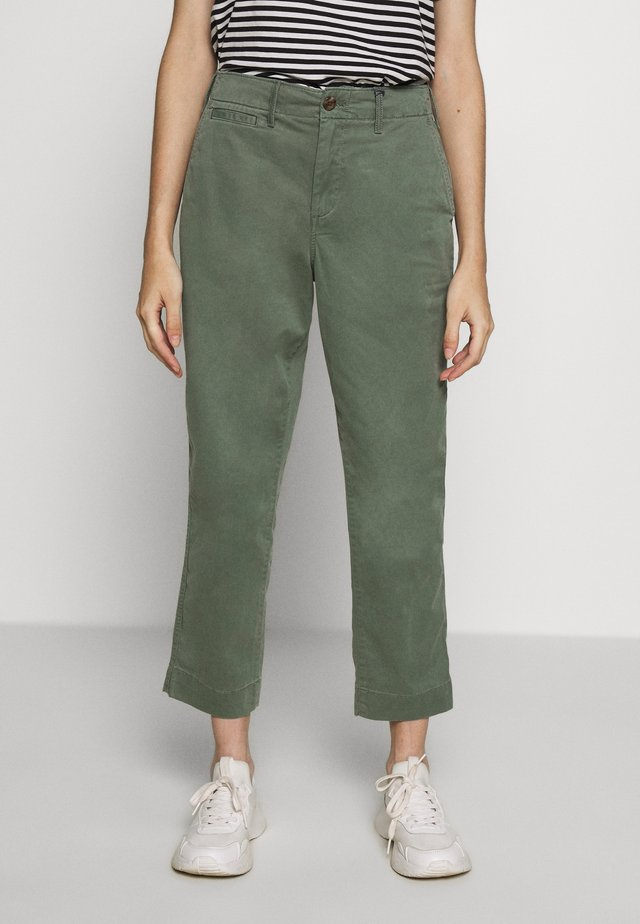 HIGH RISE STRAIGHT - Pantaloni - olive