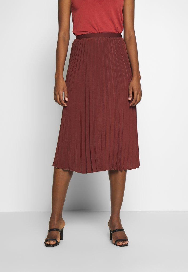 Rosemunde - A-line skirt - chestnut red